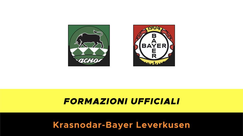 Krasnodar-Leverkusen formazioni ufficiali