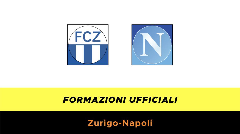 Zurigo-Napoli formazioni ufficiali