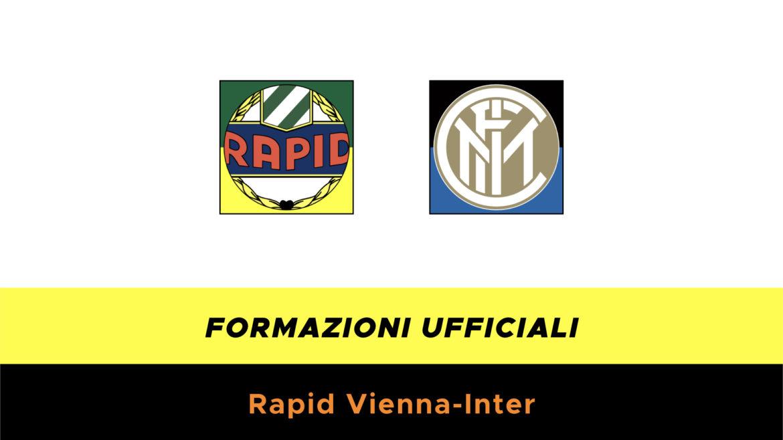 Rapid Vienna-Inter formazioni ufficiali