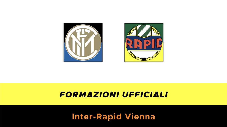 Inter-Rapid Vienna formazioni ufficiali