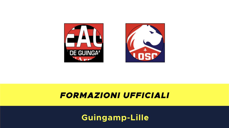 Guingamp-Lilla formazioni ufficiali