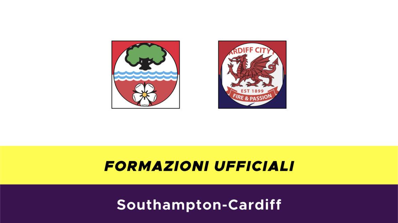 Southampton-Cardiff formazioni ufficiali