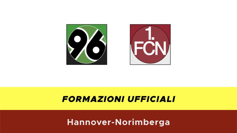 Hannover-Norimberga formazioni ufficiali