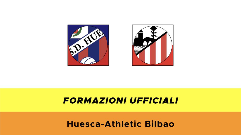 Huesca-Bilbao formazioni ufficiali