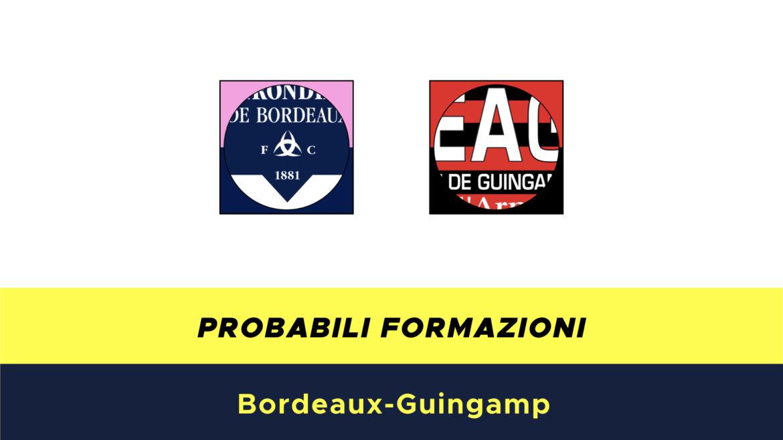 Bordeaux-Guingamp probabili formazioni