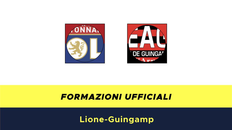 Lione-Guingamp formazioni ufficiali