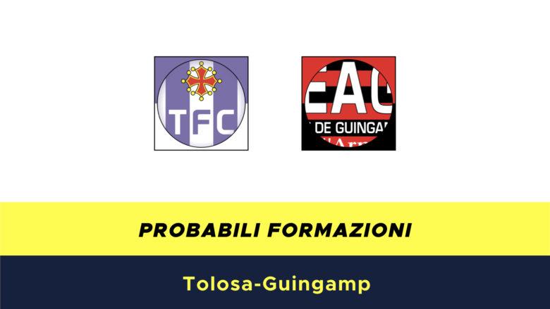 Tolosa-Guingamp probabili formazioni