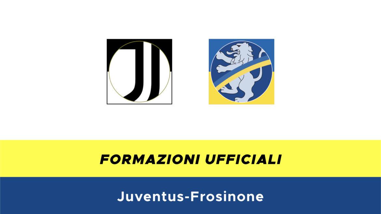 Juventus-Frosinone formazioni ufficiali
