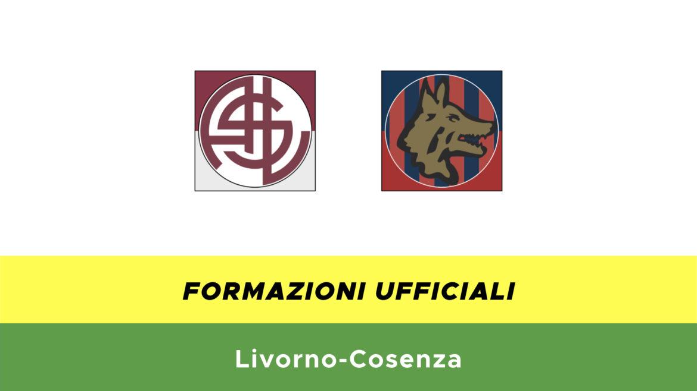 Livorno-Cosenza formazioni ufficiali