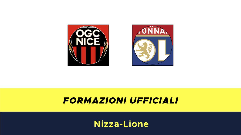 Nizza-Lione formazioni ufficiali