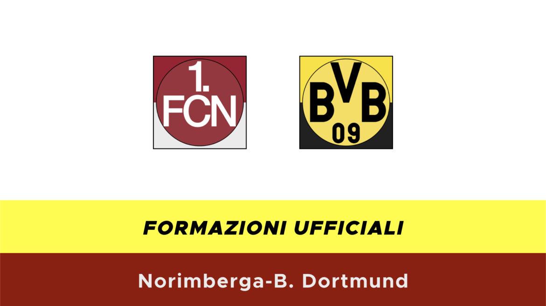 Norimberga-Borussia Dortmund formazioni ufficiali