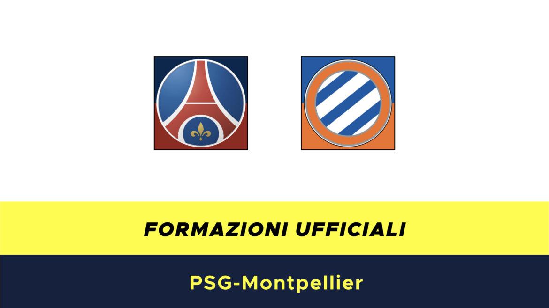PSG-Montpellier formazioni ufficiali