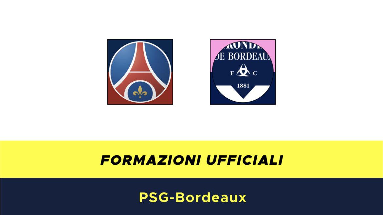 PSG-Bordeaux formazioni ufficiali