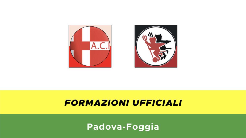 Padova-Foggia formazioni ufficiali