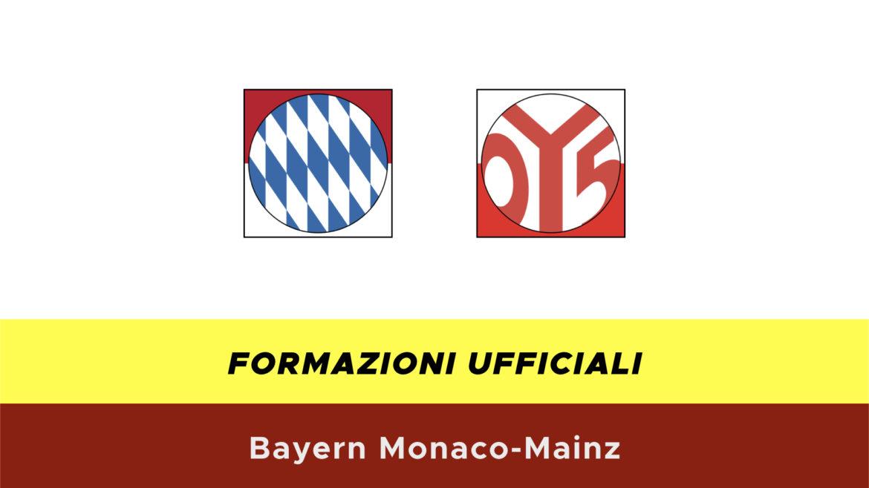 Bayern Monaco-Mainz formazioni ufficiali