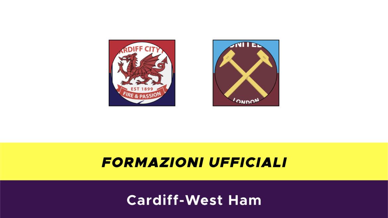 Cardiff-West Ham formazioni ufficiali