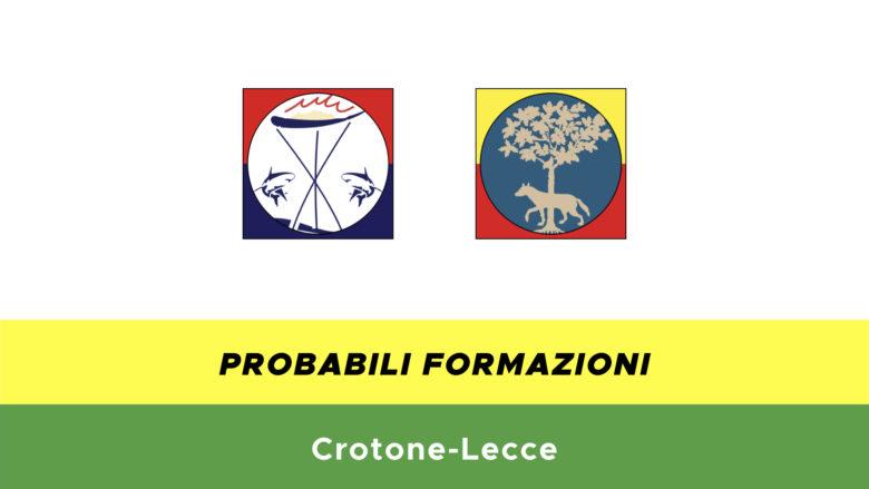 crotone-lecce probabili formazioni