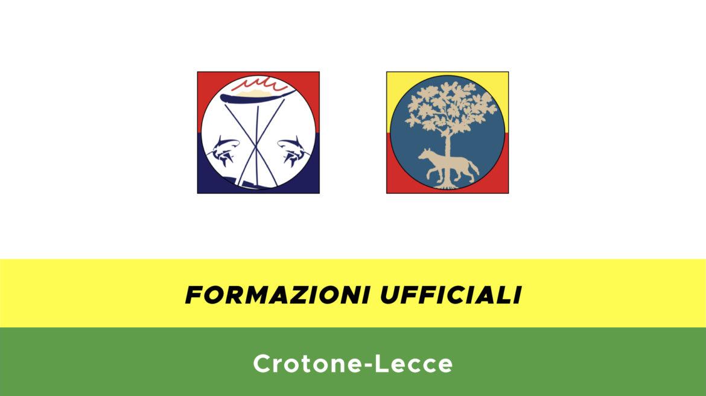 Crotone-Lecce formazioni ufficiali