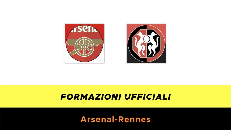 Arsenal-Rennes formazioni ufficiali