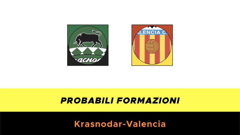 Krasnodar-Valencia probabili formazioni