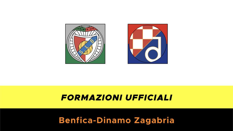 Benfica-Dinamo Zagabria formazioni ufficiali