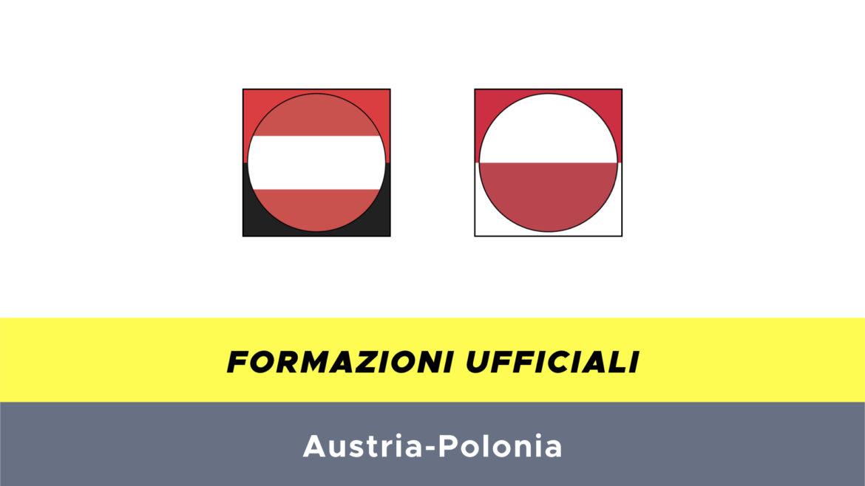Austria-Polonia formazioni ufficiali
