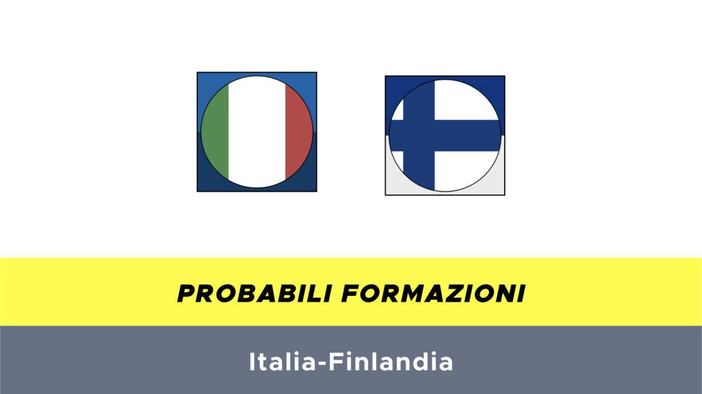 italia-finlandia probabili formazioni