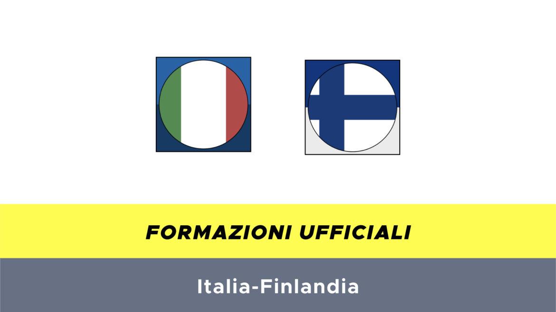 Italia-Finlandia formazioni ufficiali
