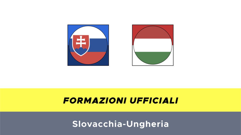 Slovacchia-Ungheria formazioni ufficiali