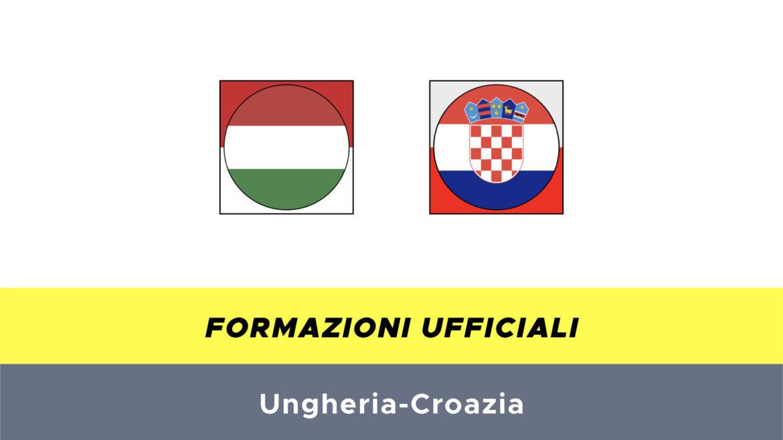 Ungheria-Croazia formazioni ufficiali