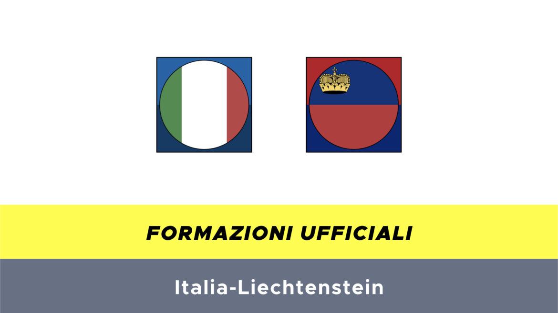 Italia-Liechtenstein formazioni ufficiali