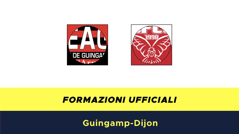 Guingamp-Digione formazioni ufficiali