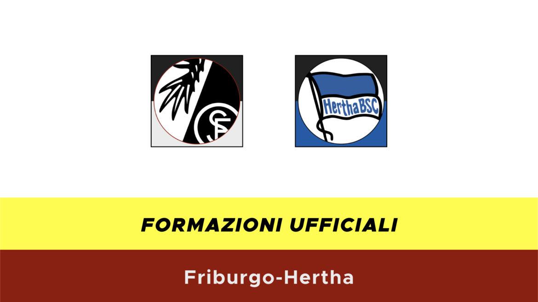 Friburgo-Herta formazioni ufficiali