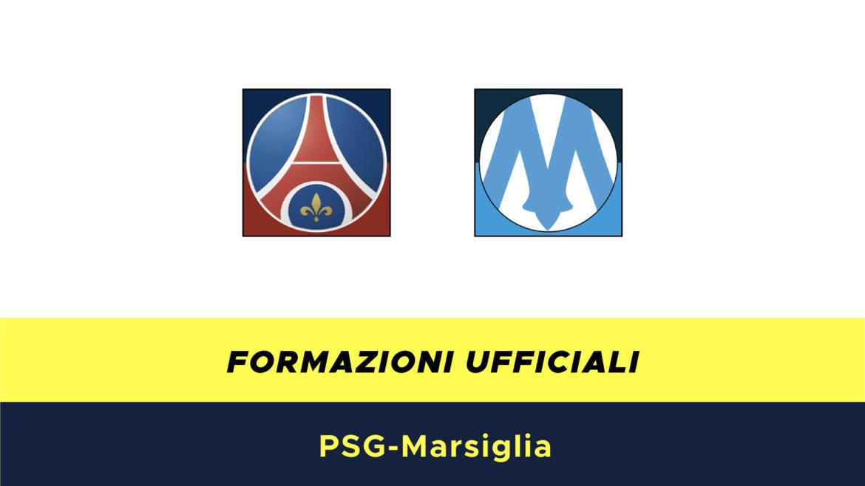 PSG-Marsiglia formazioni ufficiali