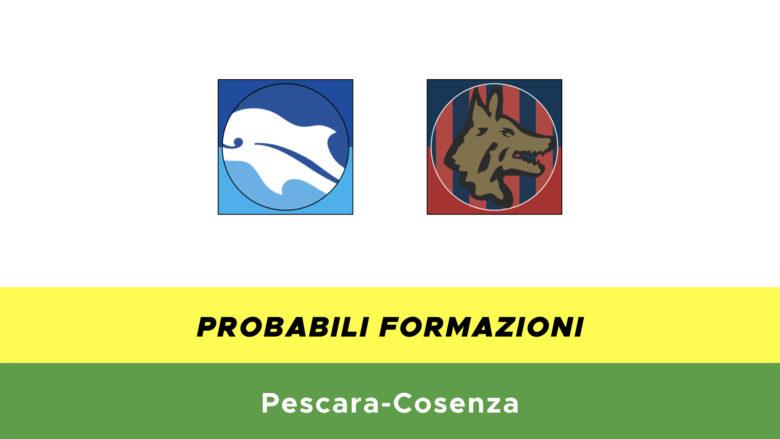 Pescara-Cosenza probabili formazioni