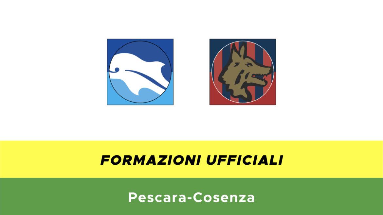 Pescara-Cosenza formazioni ufficiali