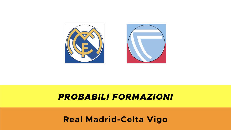 Real Madrid-Celta Vigo probabili formazioni