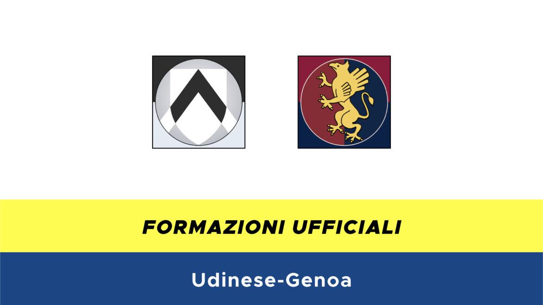 Udinese-Genoa formazioni ufficiali