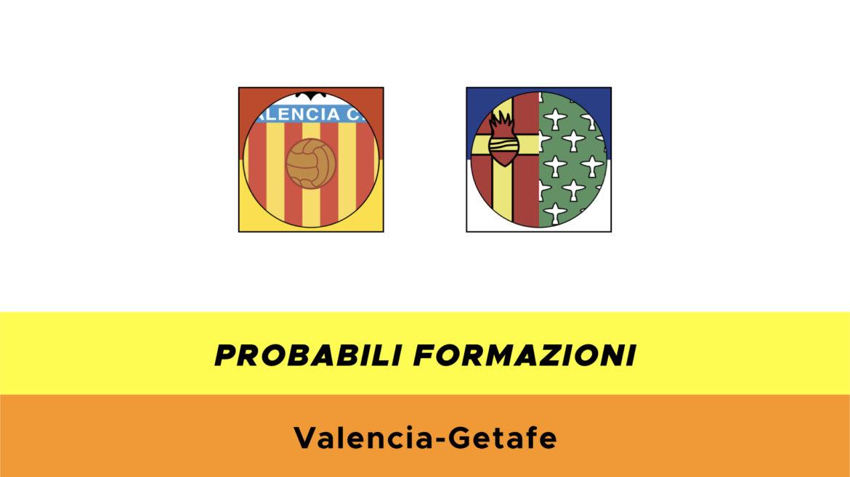 Valencia-Getafe probabili formazioni