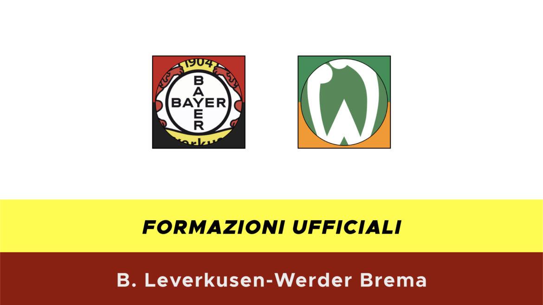 Leverkusen-Werder Brema formazioni ufficiali