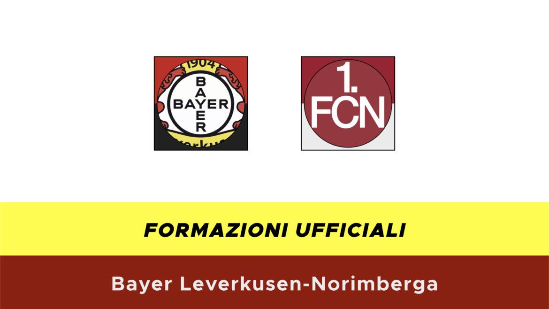 Leverkusen-Norimberga formazioni ufficiali