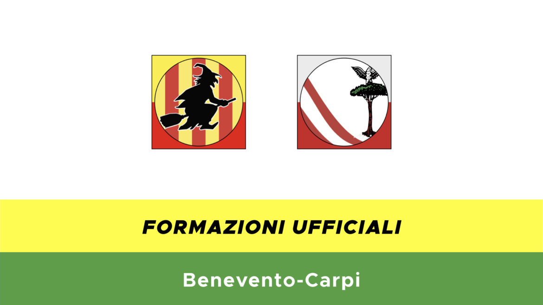 Benevento-Carpi formazioni ufficiali
