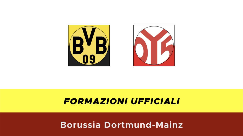 Borussia Dortmund-Mainz formazioni ufficiali