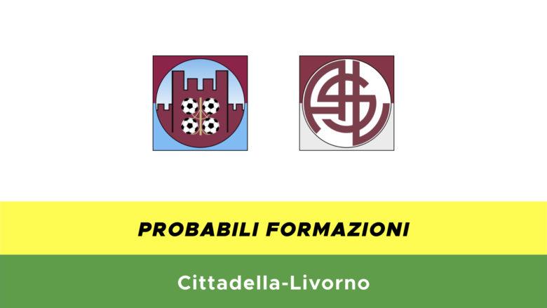 Cittadella-Livorno probabili formazioni