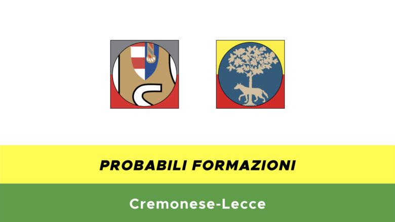 cremonese-lecce probabili formazioni