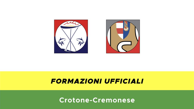 Crotone-Cremonese formazioni ufficiali