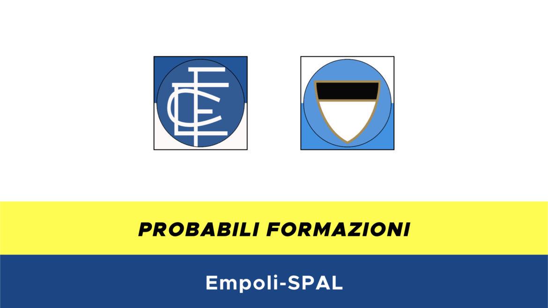 Empoli-SPAL probabili formazioni