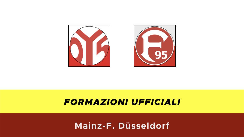 Mainz-Fortuna Dusseldorf formazioni ufficiali