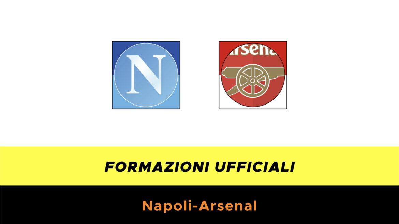 Napoli-Arsenal formazioni ufficiali
