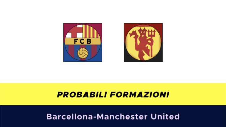 Barcellona-Manchester United probabili formazioni
